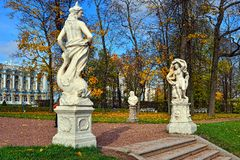 Catherine palace and park in Pushkin. Stock Images