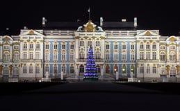 Catherine Palace a Pushkin alla notte fotografia stock