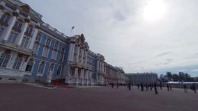 Catherine Palace. Pushkin. Catherine Park. Tsarskoye Selo. The architecture The monuments Palaces stock video