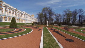 Catherine Palace. Pushkin. Catherine Park. Tsarskoye Selo. SAINT-PETERSBURG, RUSSIA - MAY, 2015: Catherine Palace. Pushkin. Catherine Park. Tsarskoye Selo The stock footage