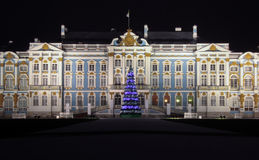 Catherine Palace in Pushkin at Night Time Stock Photo