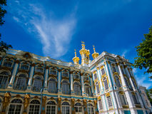 Catherine Palace in Pushkin, St. Petersburg, Russia. View of Catherine Palace in Pushkin, St. Petersburg, Russia Royalty Free Stock Images