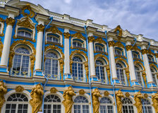 Catherine Palace in Pushkin, St. Petersburg, Rusland Royalty-vrije Stock Fotografie