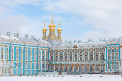 Catherine Palace in Pushkin town, Saint-Petersburg Stock Images