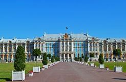 Catherine palace. In Pushkin (Tsarskoe Selo), St. Petersburg, Russia royalty free stock image
