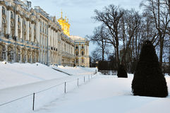 Catherine palace in Pushkin in winter time, Russia Royalty Free Stock Images