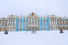 The Catherine Palace. Rococo palace located in the town of Tsarskoye Selo. Pushkin Royalty Free Stock Photo