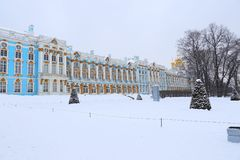The Catherine Palace. Rococo palace located in the town of Tsarskoye Selo. Pushkin Stock Photo
