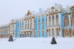 The Catherine Palace. Rococo palace located in the town of Tsarskoye Selo. Pushkin Royalty Free Stock Image