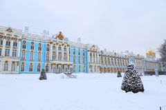 The Catherine Palace. Rococo palace located in the town of Tsarskoye Selo. Pushkin Stock Images