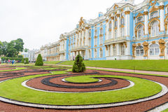 Catherine Palace, a Rococo palace in Tsarskoye Selo, Saint Peter. Sburg, Russia Stock Images
