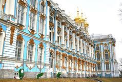 The Catherine Palace at Saint Petersburg, Russia. Style of the pavilion in the Catherine Palace at Saint Petersburg, Russia Stock Images