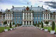 Catherine Palace in St. Petersburg. Catherine Palace, located in the town of Tsarskoye Selo. St. Petersburg, Russia Stock Photos