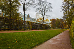 Catherine palace in St. Petersburg. The royal catherine palace in Saint Petersburg , Russia Royalty Free Stock Images