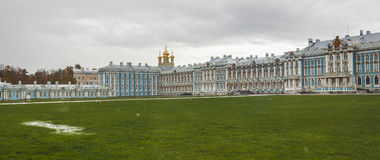 Catherine palace in St. Petersburg. The royal catherine palace in Saint Petersburg , Russia Royalty Free Stock Photo