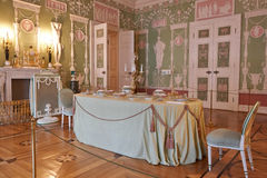 Catherine Palace in. Catherine Palace Table, Russia, St. Petersburg royalty free stock photo