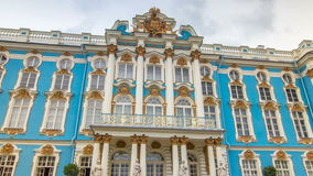The Catherine Palace timelapse hyperlapse is a Rococo palace located in the town of Tsarskoye Selo Pushkin. Entrance to the Catherine Palace timelapse hyperlapse stock video