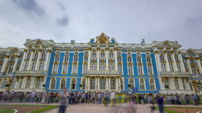 The Catherine Palace timelapse is a Rococo palace located in the town of Tsarskoye Selo Pushkin. Entrance to the Catherine Palace timelapse is a Rococo palace stock video