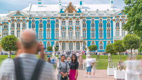 The Catherine Palace timelapse is a Rococo palace located in the town of Tsarskoye Selo Pushkin. Path to the Catherine Palace timelapse is a Rococo palace stock video footage