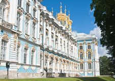 The Catherine Palace, Town Tsarskoye Selo, Russia Royalty Free Stock Image