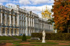 Catherine Palace in Tsarskoye Selo (Pushkin) Russia Royalty Free Stock Image