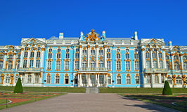 The Catherine Palace. In Tsarskoye Selo (Pushkin), Saint Petersburg, Russia stock photography