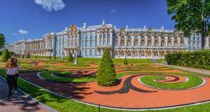 Catherine Palace, Tsarskoye Selo, Rusland in Tsarskoe Selo de tuin van Alexander royalty-vrije stock afbeeldingen