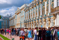 Catherine Palace in Tsarskoye Selo, St. Petersburg Stock Images