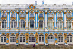 The Catherine Palace in Tsarskoye Selo, St. Petersburg, Russia.  Royalty Free Stock Photography