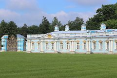 Catherine palast στη Αγία Πετρούπολη στη Ρωσία στοκ εικόνα