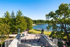 Catherine Park em Tsarskoe Selo Fotos de Stock Royalty Free