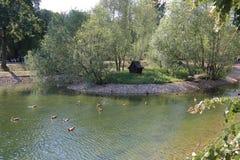 Catherine Park en Moscú, Rusia Imagen de archivo libre de regalías