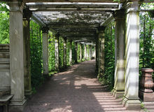 Catherine-Park-Gärten, Tsarskoye Selo (Pushkin) stockfoto