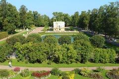 Catherine Park La Russia, StPetersburg, Tsarskoye Selo Fotografie Stock