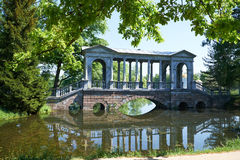 Catherine Park marble bridge. In Petersburg Royalty Free Stock Photos