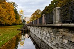 Catherine park in Pushkin,St.Petersburg Royalty Free Stock Image
