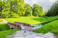 Catherine Park in Pushkin stock images