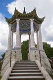 Catherine Park. Pushkin (Tsarskoye Selo). Petersburg. Pavilion in the Chinese style. royalty free stock photos