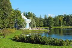 Catherine Park Rusland, Tsarskoe Selo Stock Fotografie