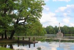 Catherine Park russia selotsarskoye Arkivbild