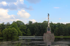 Catherine Park russia selotsarskoye Royaltyfri Bild