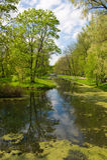 Catherine Park in stad Pushkin Royalty-vrije Stock Foto