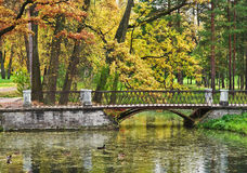Catherine Park. Tsarskoe Selo in Pushkin near St. Petersburg, Russia Royalty Free Stock Photos