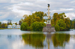 Catherine park in Tsarskoe Selo, Russia Royalty Free Stock Images