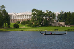 Catherine park in Tsarskoye Se Royalty Free Stock Photo