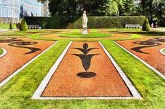 Catherine Park in Tsarskoye Selo in de stad van Pushkin vector illustratie