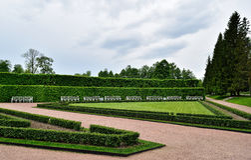 Catherine Park in Tsarskoye Selo dichtbij St. Petersburg royalty-vrije stock afbeelding