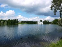 Catherine Park, Tsarskoye Selo Catherine Palace en Russie, St Petersburg, a visité par des touristes de partout dans le monde images stock