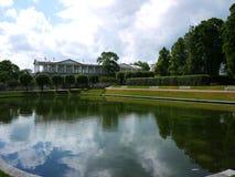 Catherine Park, Tsarskoye Selo Catherine Palace in Rusland, St. Petersburg, door toeristen die over de hele wereld wordt bezocht  royalty-vrije stock afbeelding