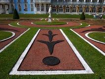 Catherine Park, Tsarskoye Selo Catherine Palace in Rusland, St. Petersburg, door toeristen die over de hele wereld wordt bezocht  royalty-vrije stock foto